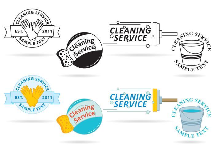 Vettori di servizio di pulizia Logo