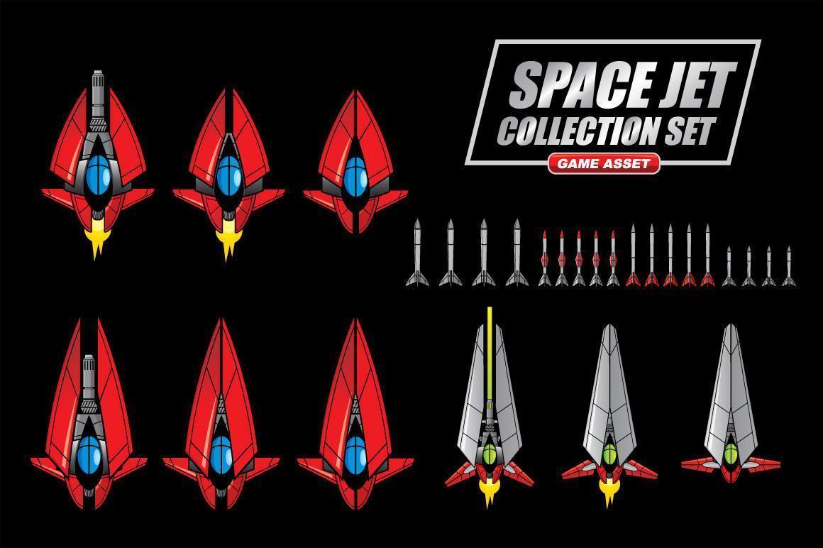 set di raccolta jet spaziali vettore