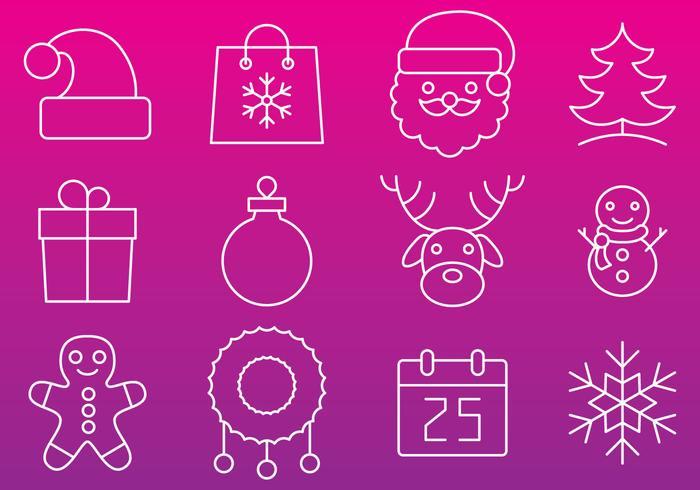 Vettori di icona linea di Natale
