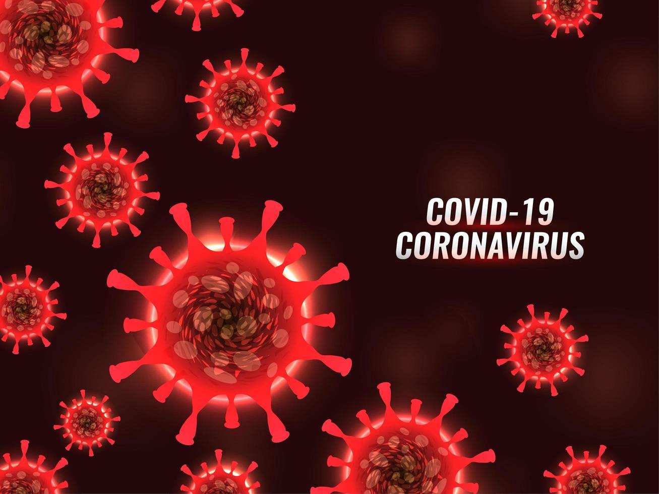 moderno covid-19 sfondo di cellule di coronavirus vettore