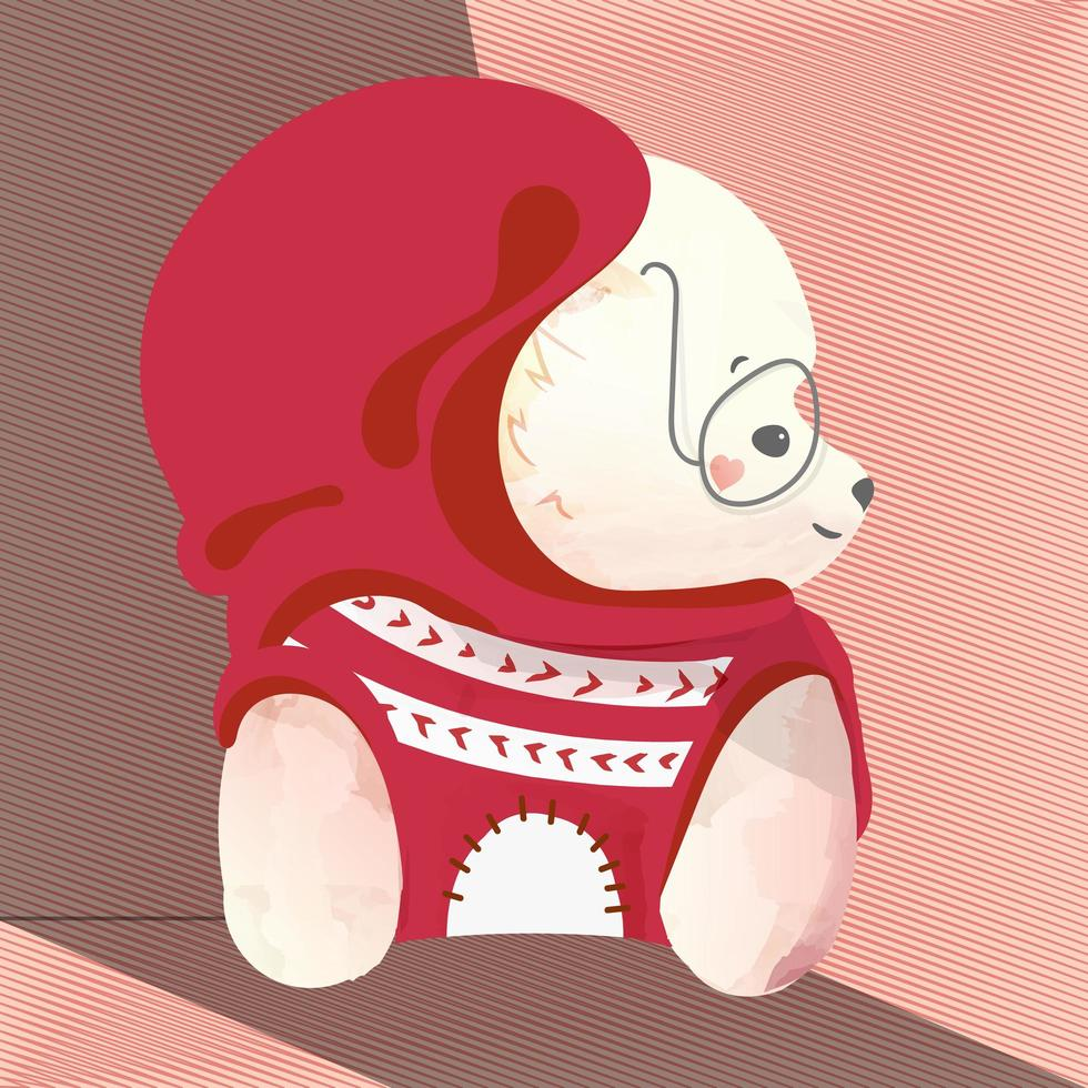 pittura pomeraniana di doodle vettore