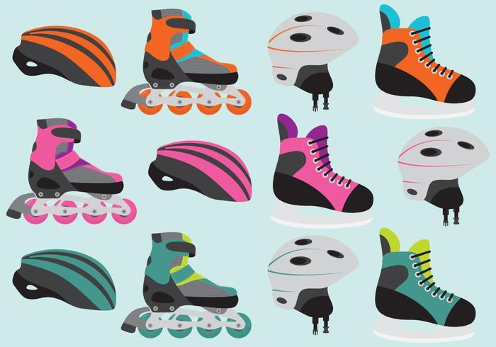 Elementi di vettore del pattino a rotelle