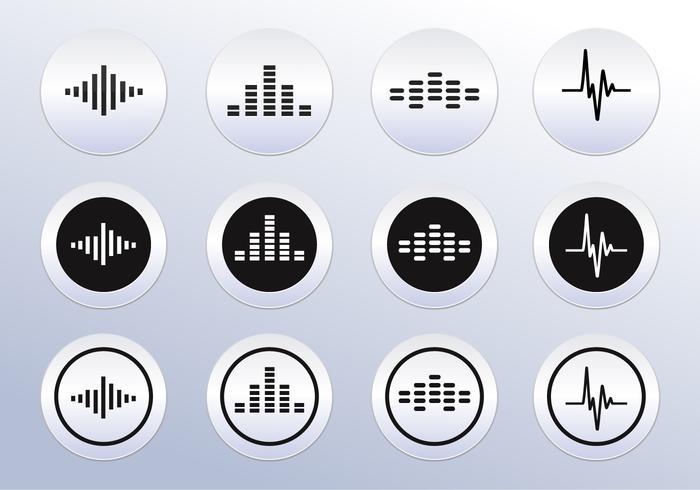 Vettore Icone dell'onda sonora
