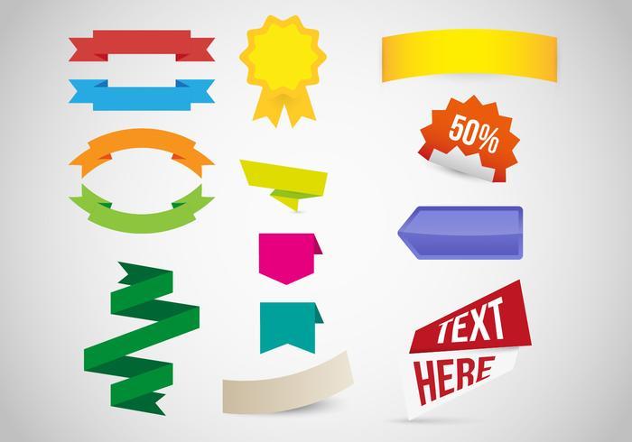 Vettore delle risorse grafiche delle etichette di Etiquetas