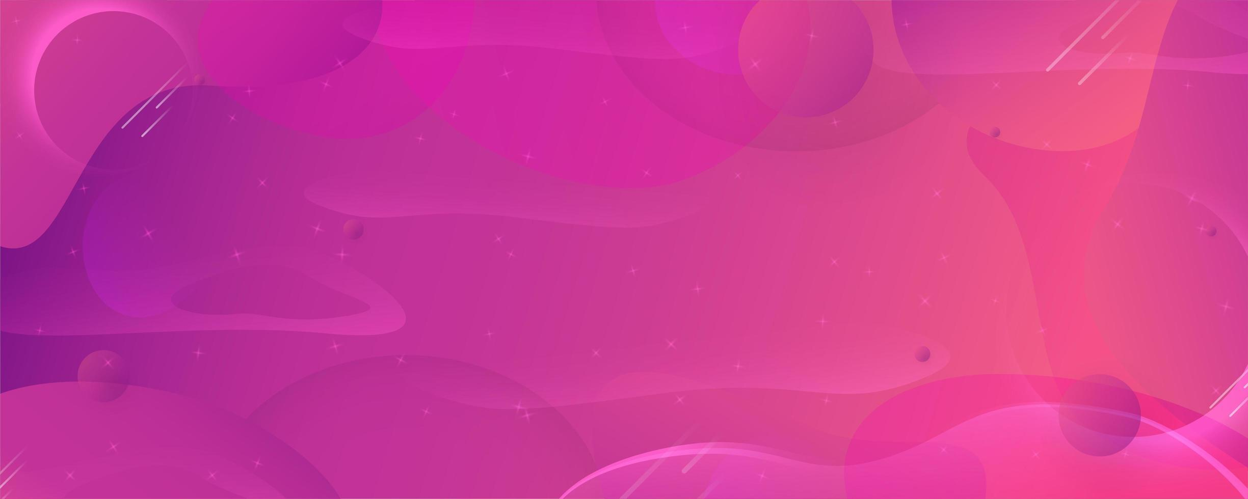 banner di forme fluide gradiente viola rosa moderno vettore