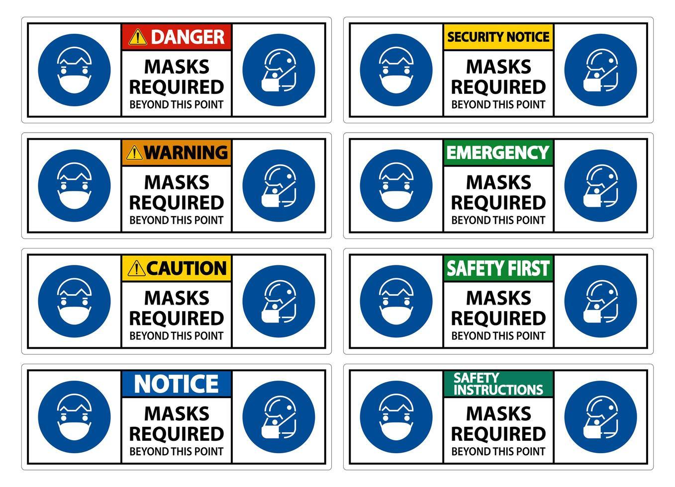 maschera richiesta set di segni vettore