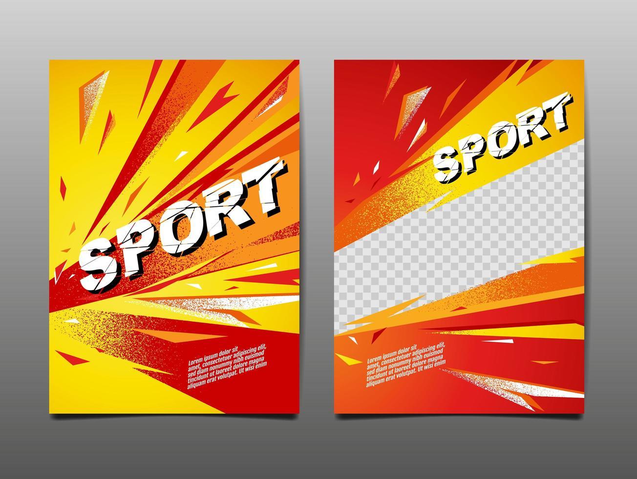 bandiera dinamica di sport di stile del grunge vettore