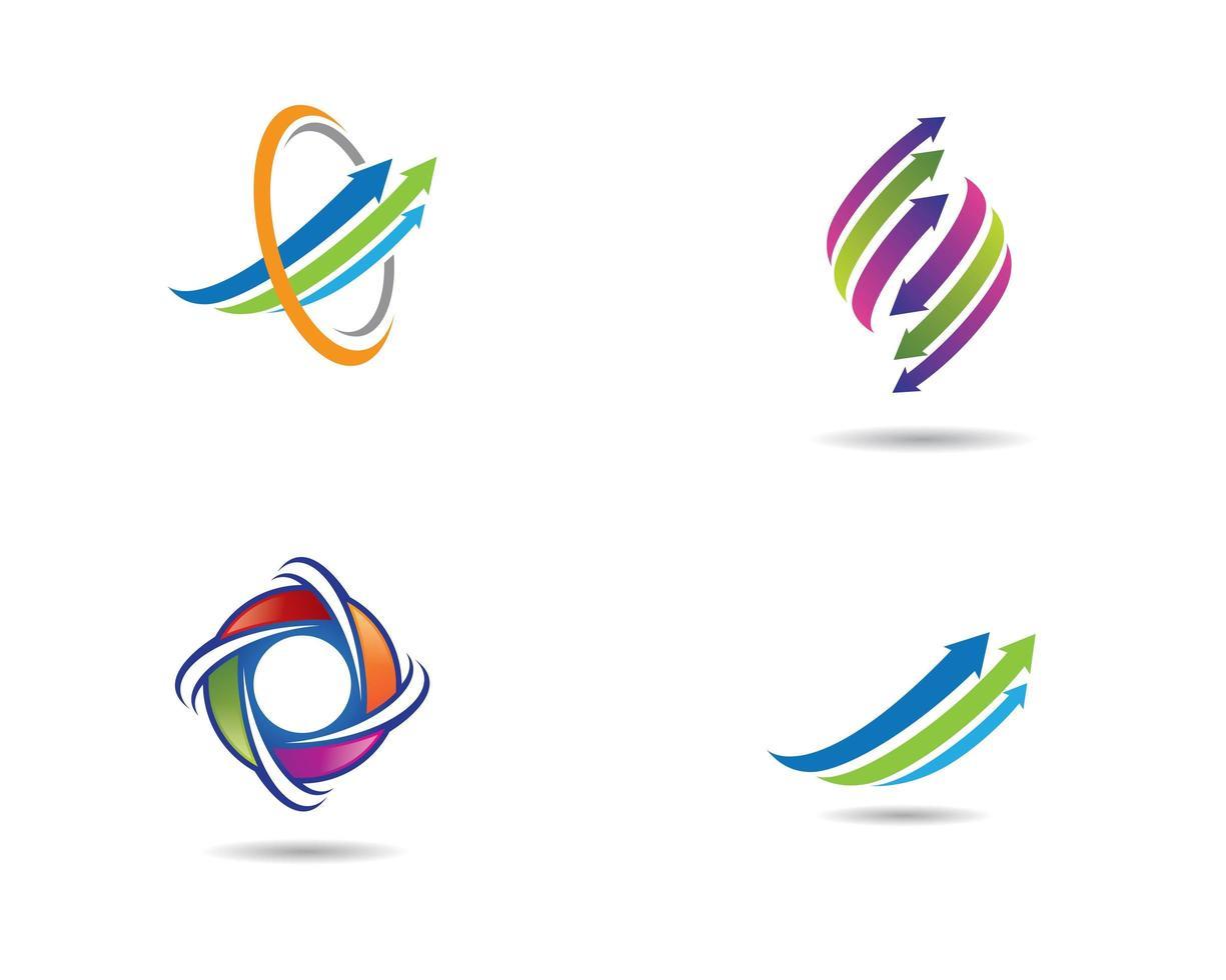 set di icone freccia colorata vettore