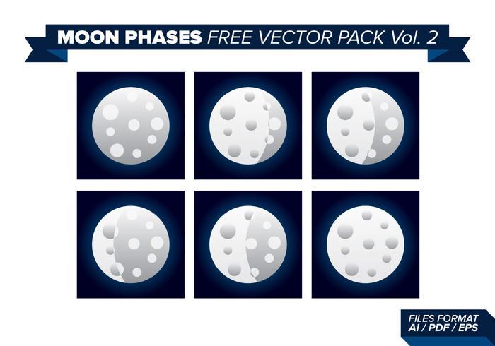 Pacchetto 2 di vettore gratuito di fasi lunari