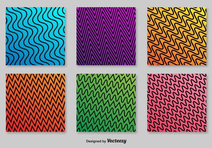 Retro modelli vettoriali a zig-zag