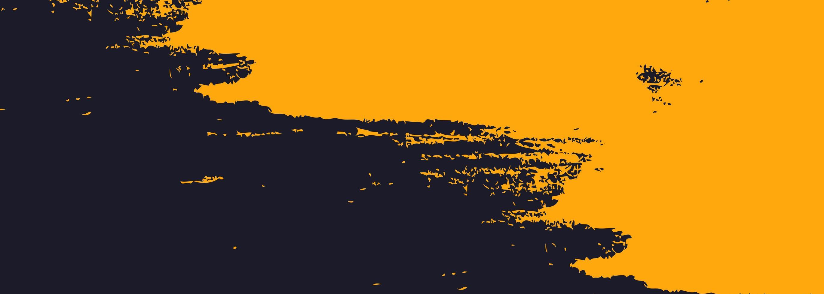 disegno astratto della bandiera dell'acquerello arancione e nero vettore