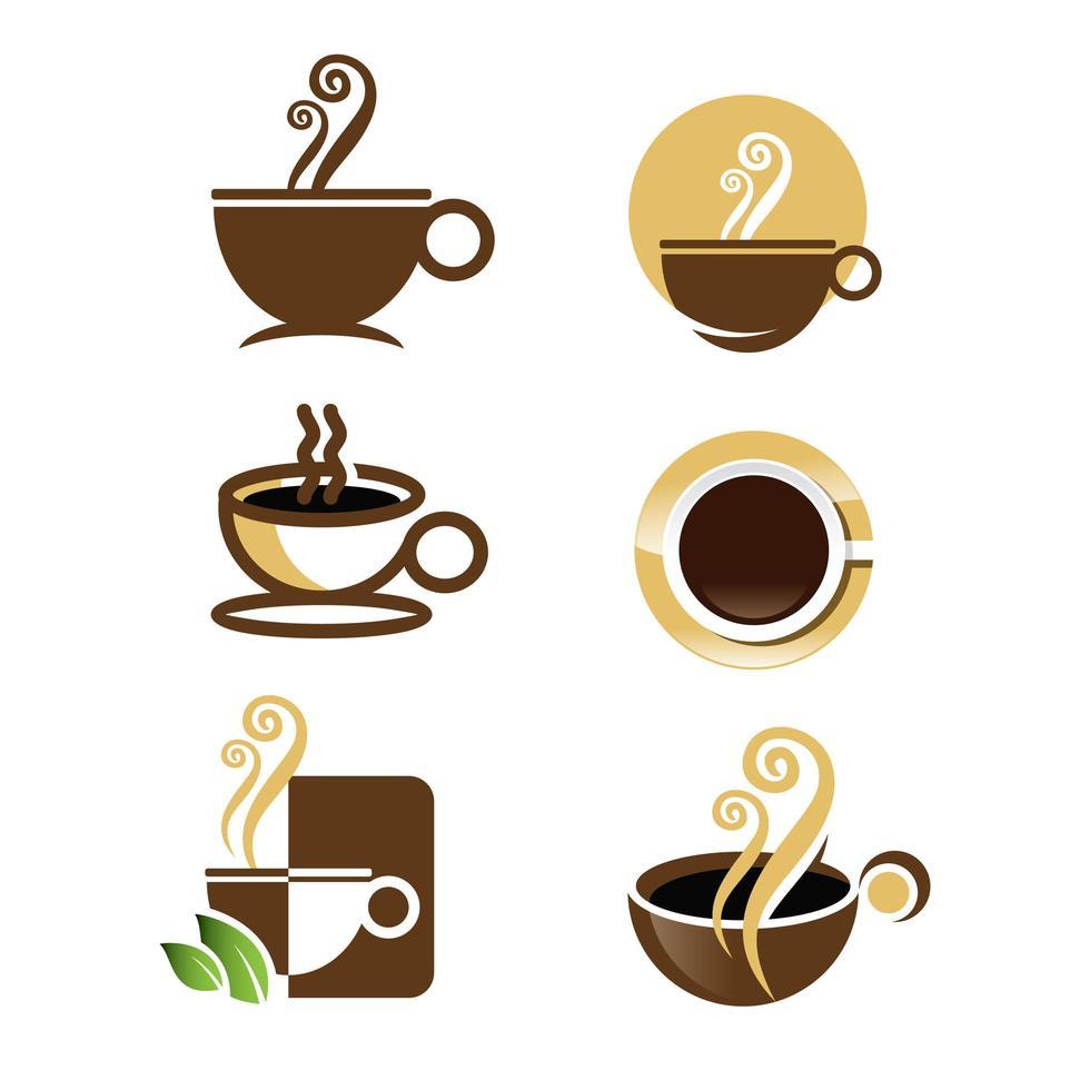 collezione logo caffè vettore