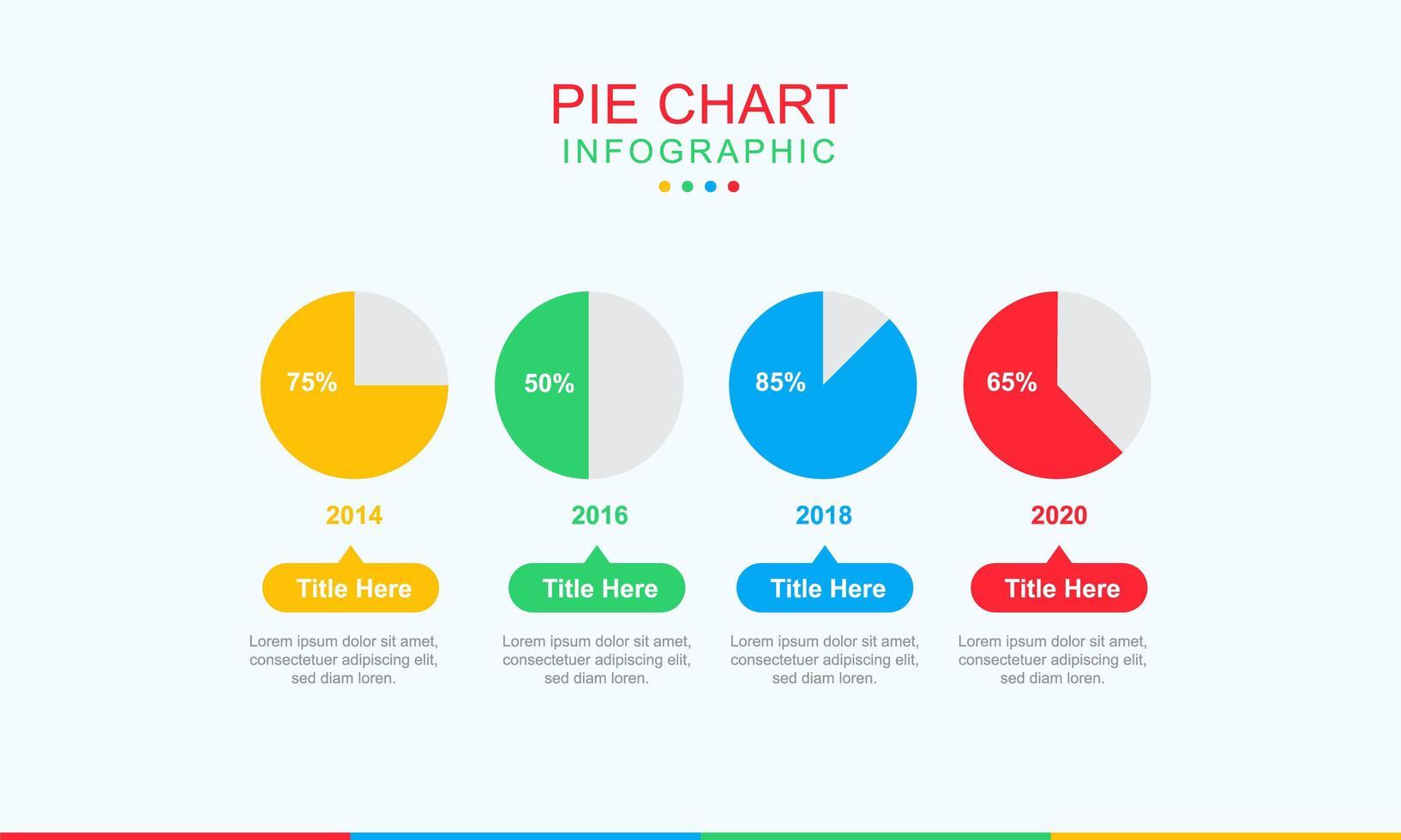 progettazione infografica grafico a torta di affari vettore