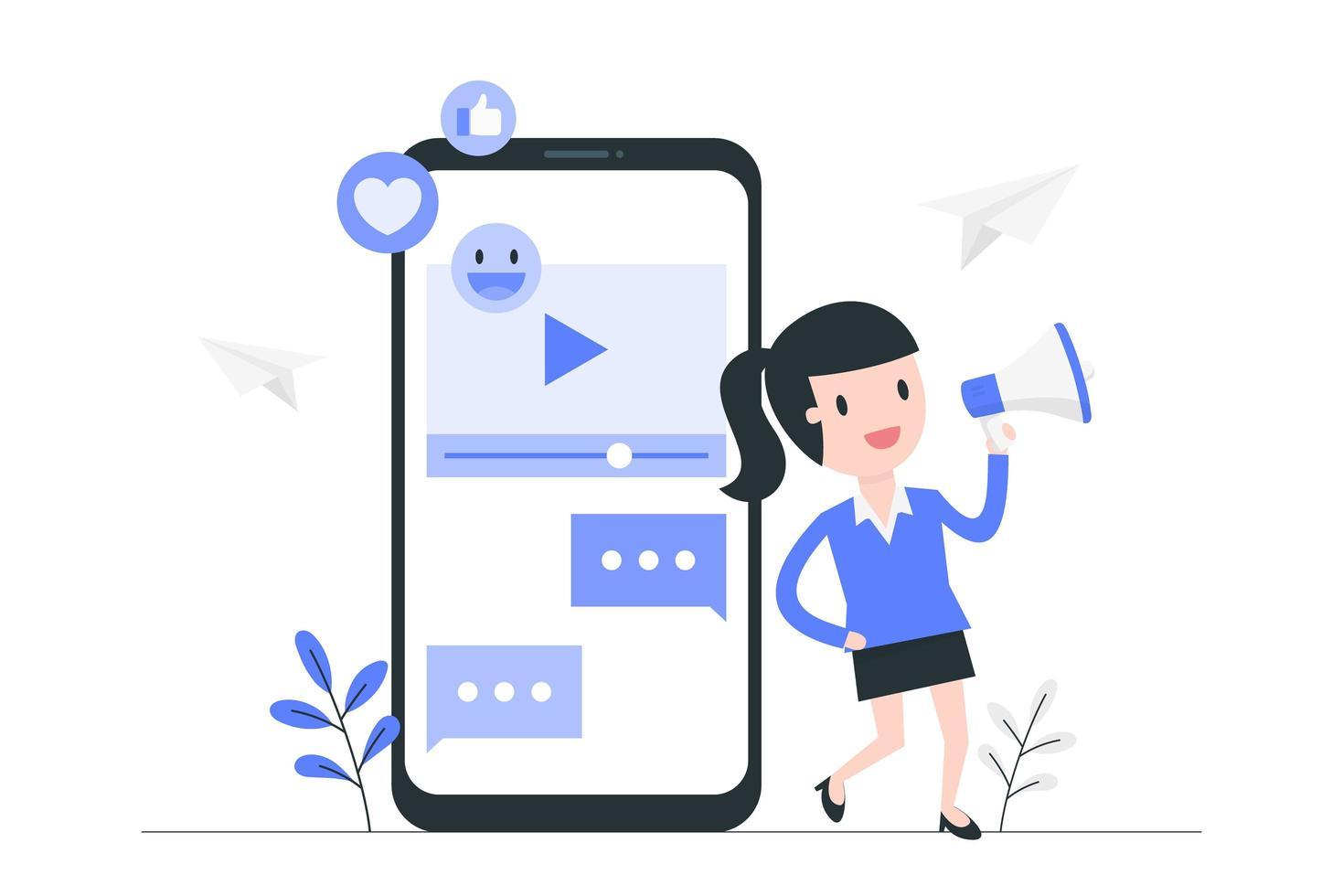video marketing e pubblicità vettore