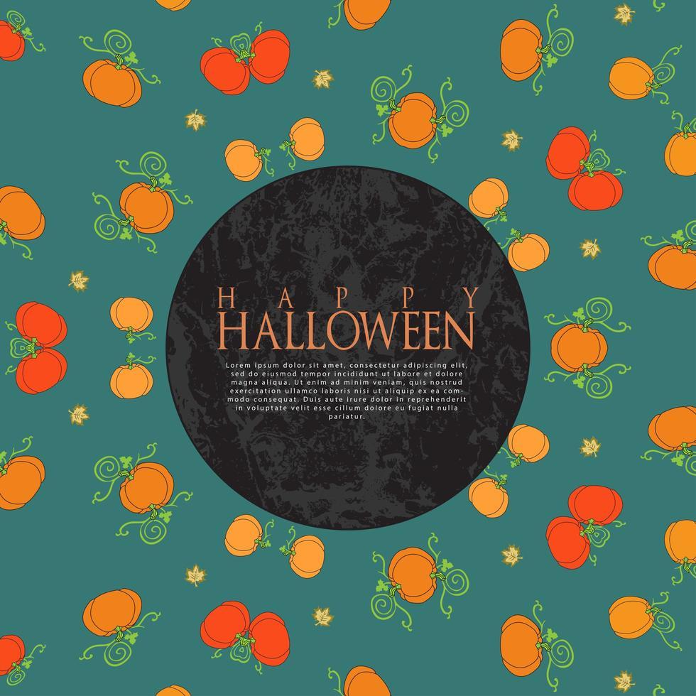 felice halloween autunno zucche sfondo vettore