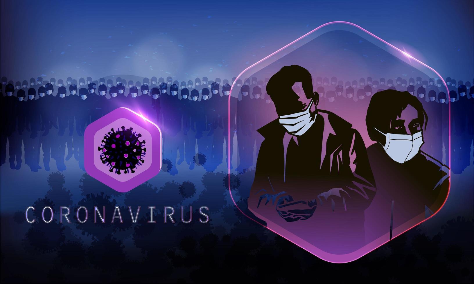poster di coronavirus scuro vettore