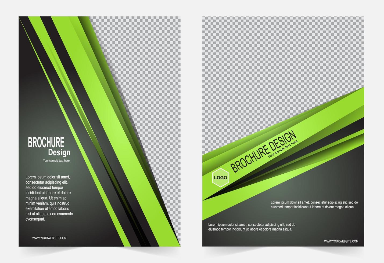 modello di copertina verde vettore