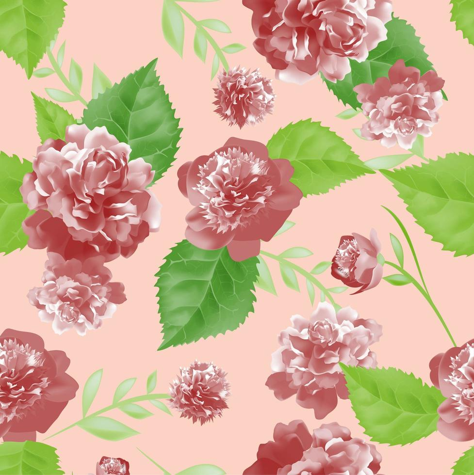 rose e foglie vintage vettore
