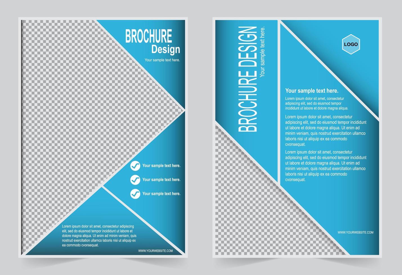 modello triangolo brochure vettore