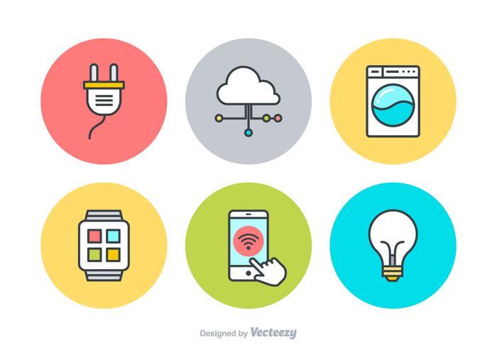 Internet delle cose icone vettoriali