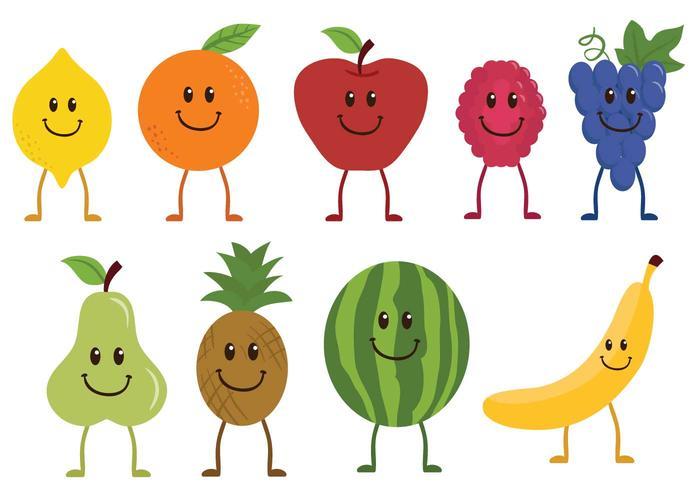 Vettori di personaggi di frutta gratis