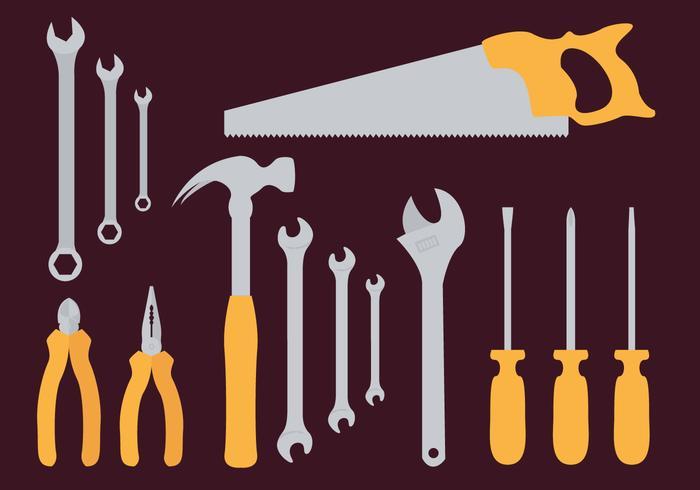 Vettore della illustrazione degli strumenti della chiave della scimmia