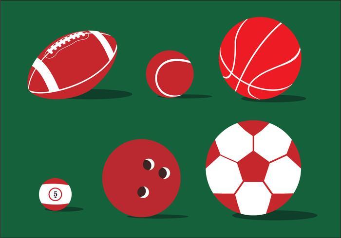 Vario vettore dell'illustrazione della palla