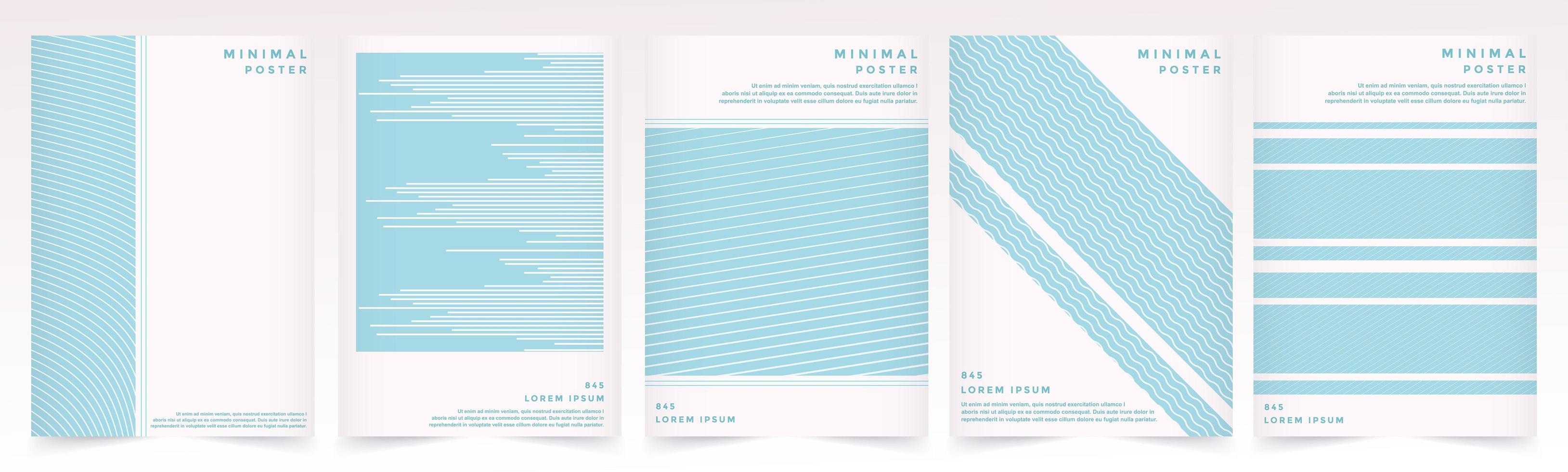 trama di modello morbido colore blu per set di modelli di copertina del libro vettore