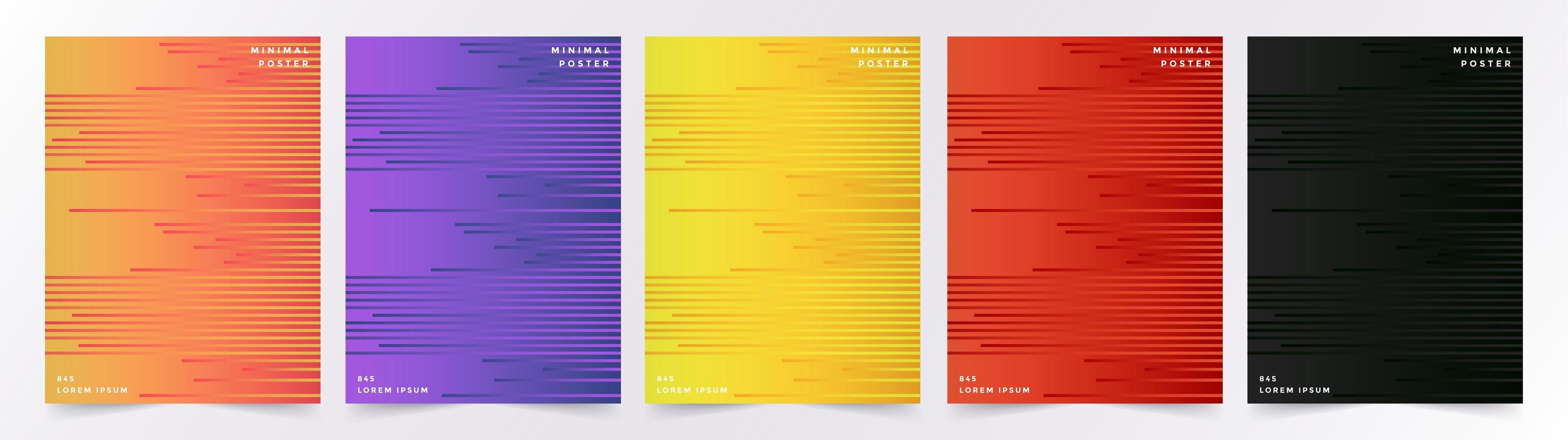 set di sfondi colorati linea geometrica vettore