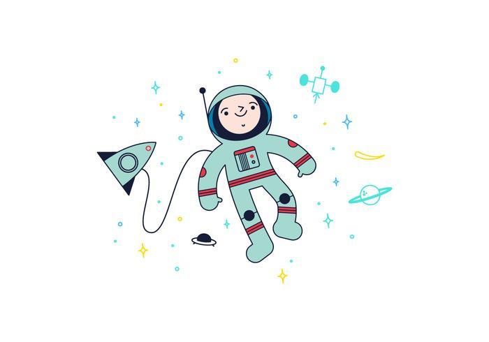 Vettore dell'astronauta