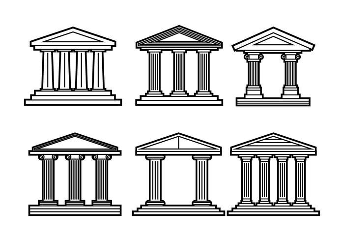 Vettore romano della colonna
