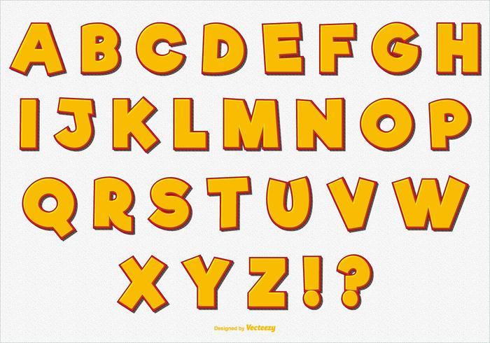 Set di alfabeto vettoriale divertente