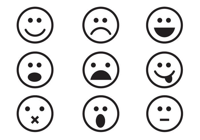 Emoticon gratuito Set vettoriale