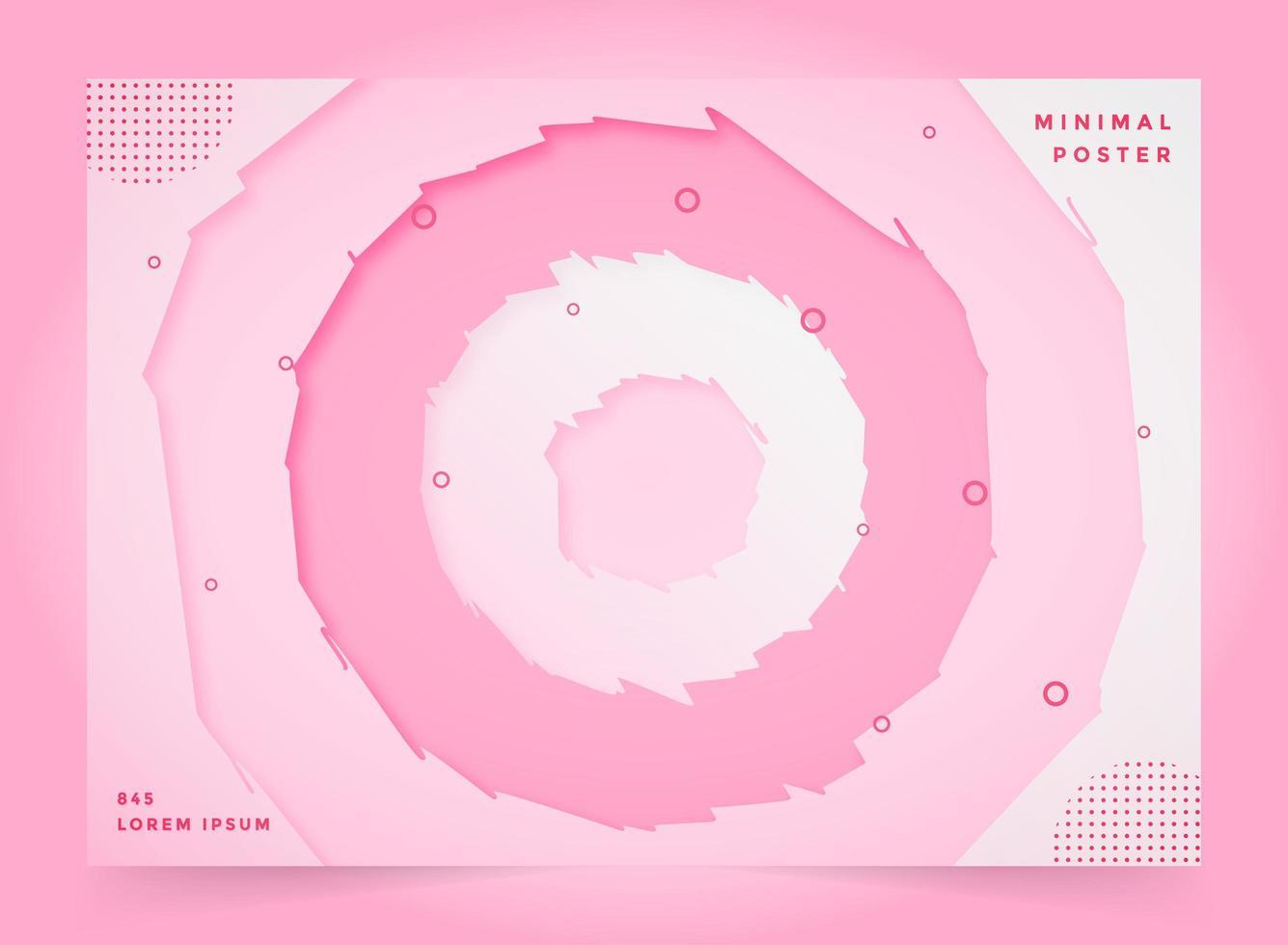 rosa astratto carta tagliata sfondo melma vettore