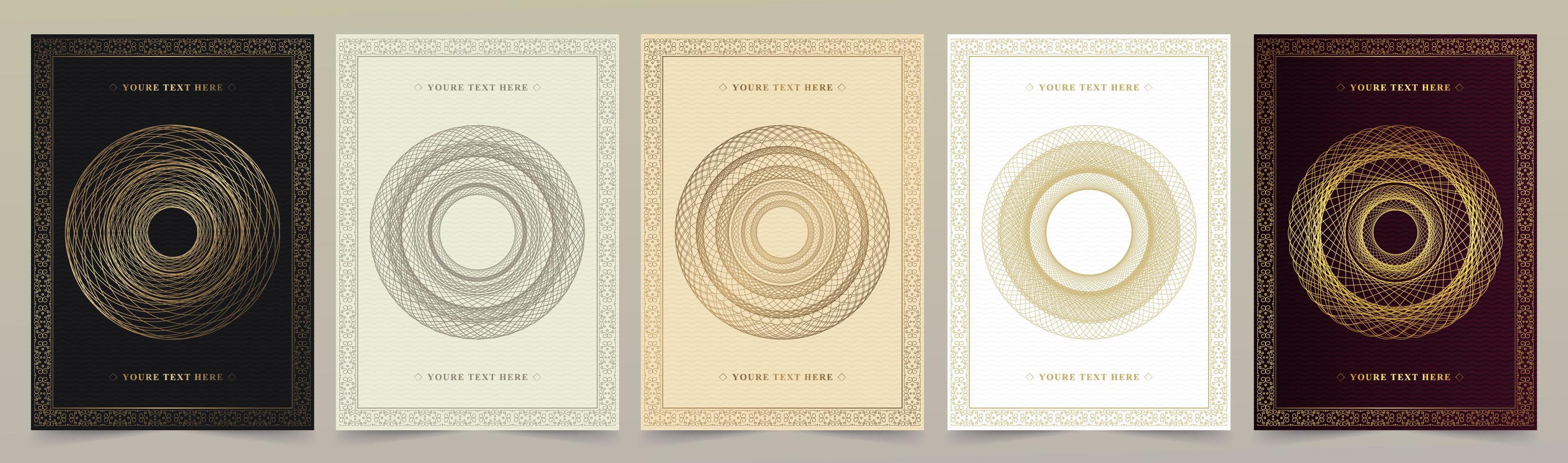 menu di copertina premium di lusso geometrico vettore