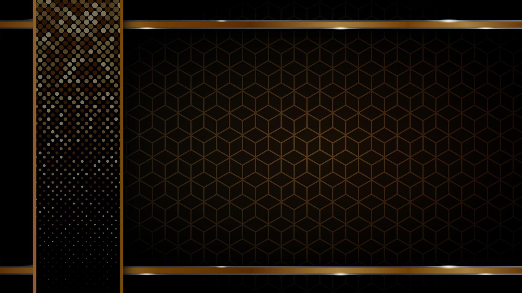 sfondo nero e oro vettore