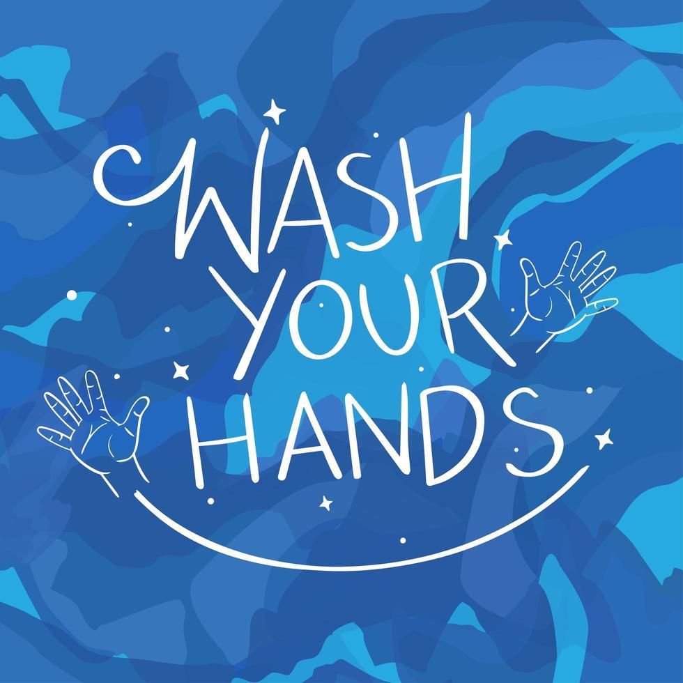 lavati le mani sullo sfondo vettore