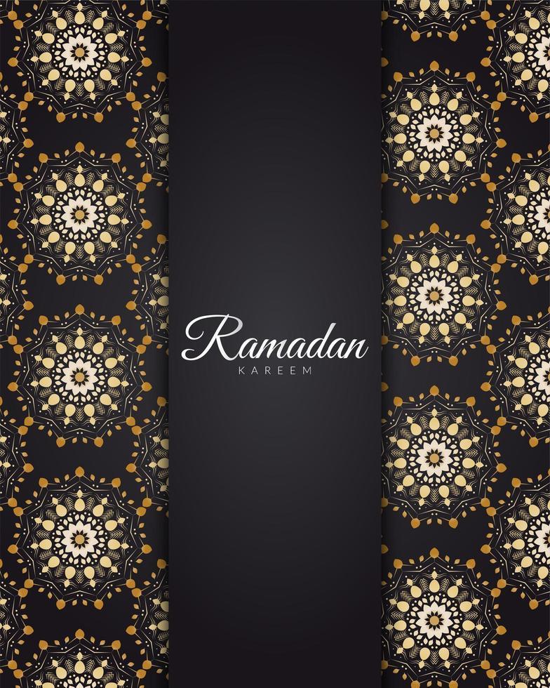 mandala d'oro ramadan vettore