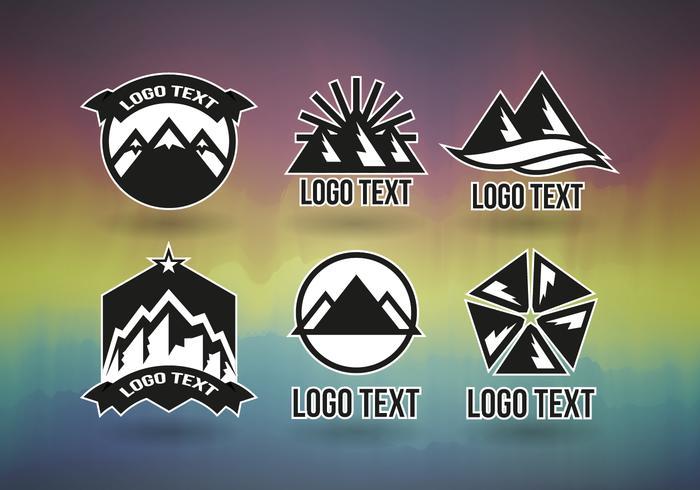 Logo professionale di Montains Logos gratuito vettore