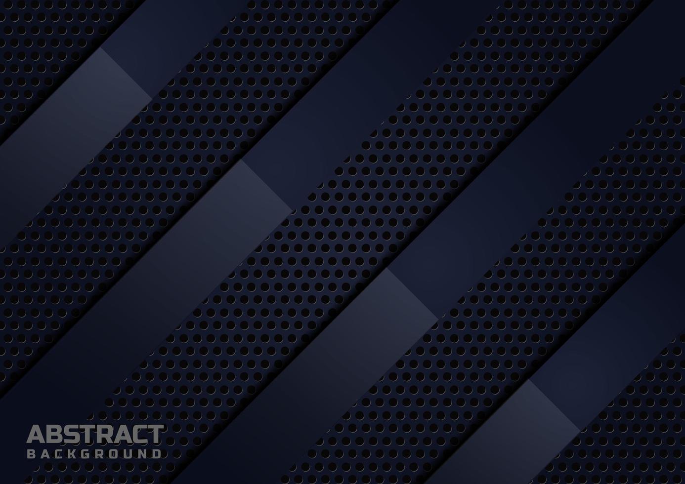 modello di lusso di carta piegata sovrapposizione diagonale nera astratta vettore