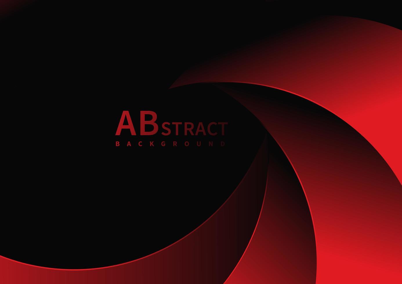 forme rosse sovrapposte curve sul nero vettore