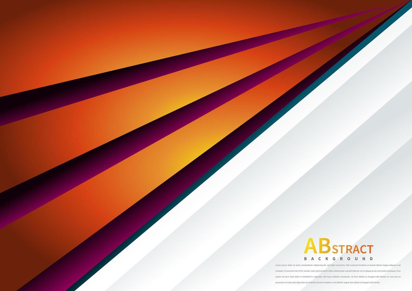 sfondo di scoppio ad angolo arancione e viola vettore