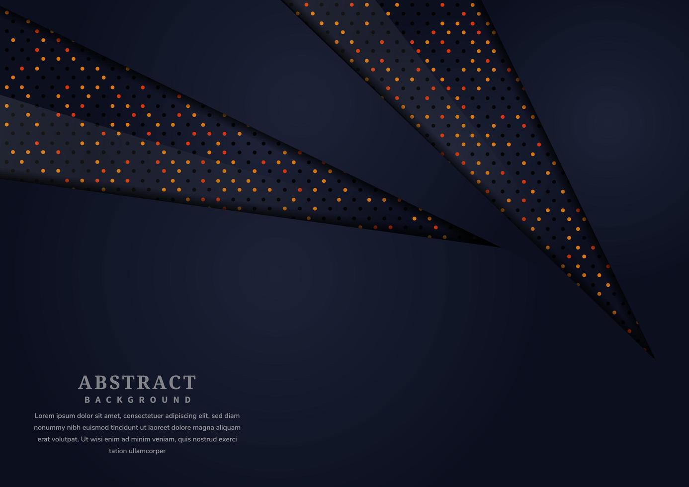 scuro astratto ritagliato forme di carta glitter sfondo vettore