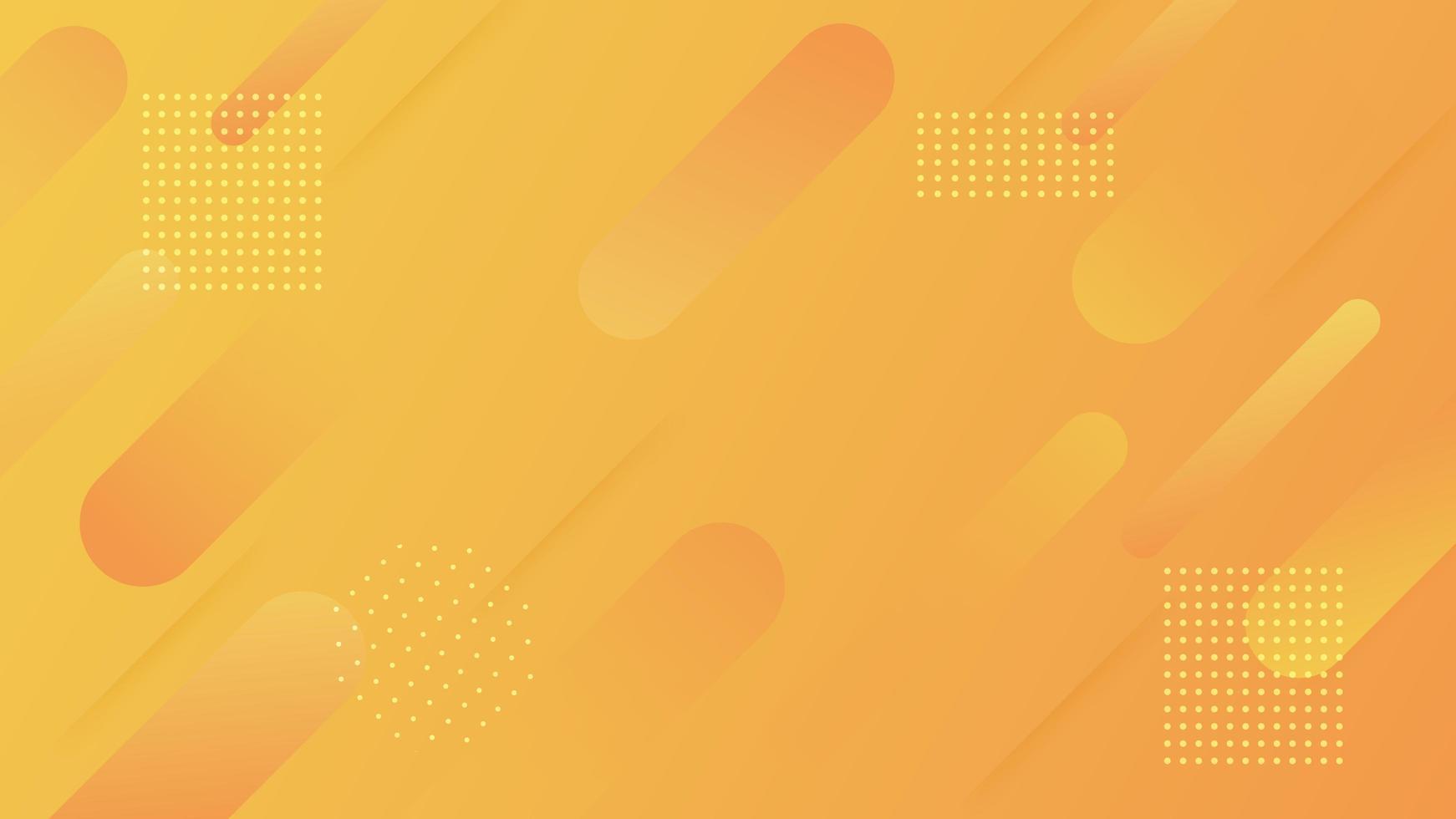 design moderno di forma arrotondata dinamica sfumatura arancione vettore
