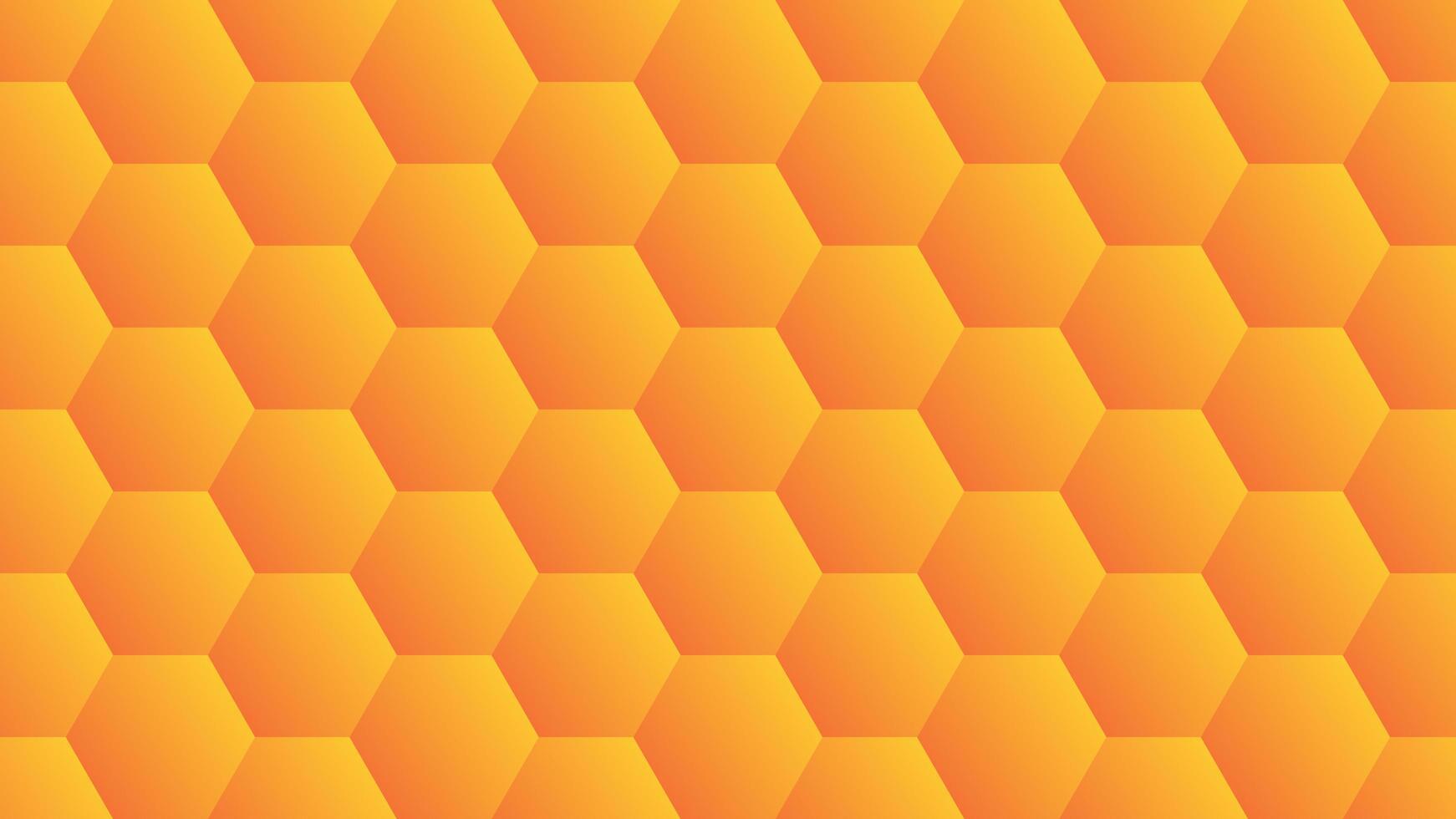 disegno esagonale sfumato arancione vettore