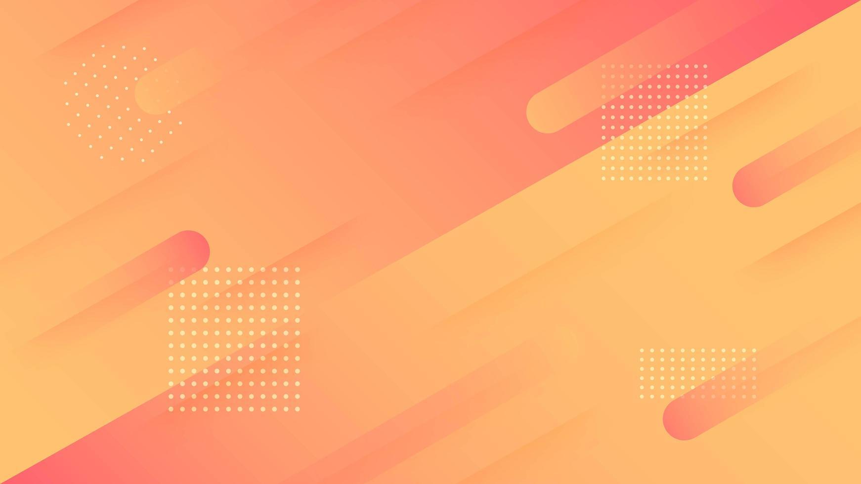 design dinamico arrotondato di forma arrotondata rosso e arancione vettore