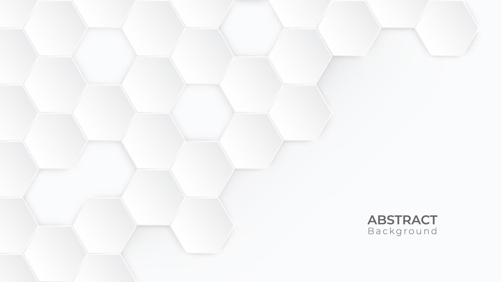 fondo bianco moderno di esagono con copyspace vettore