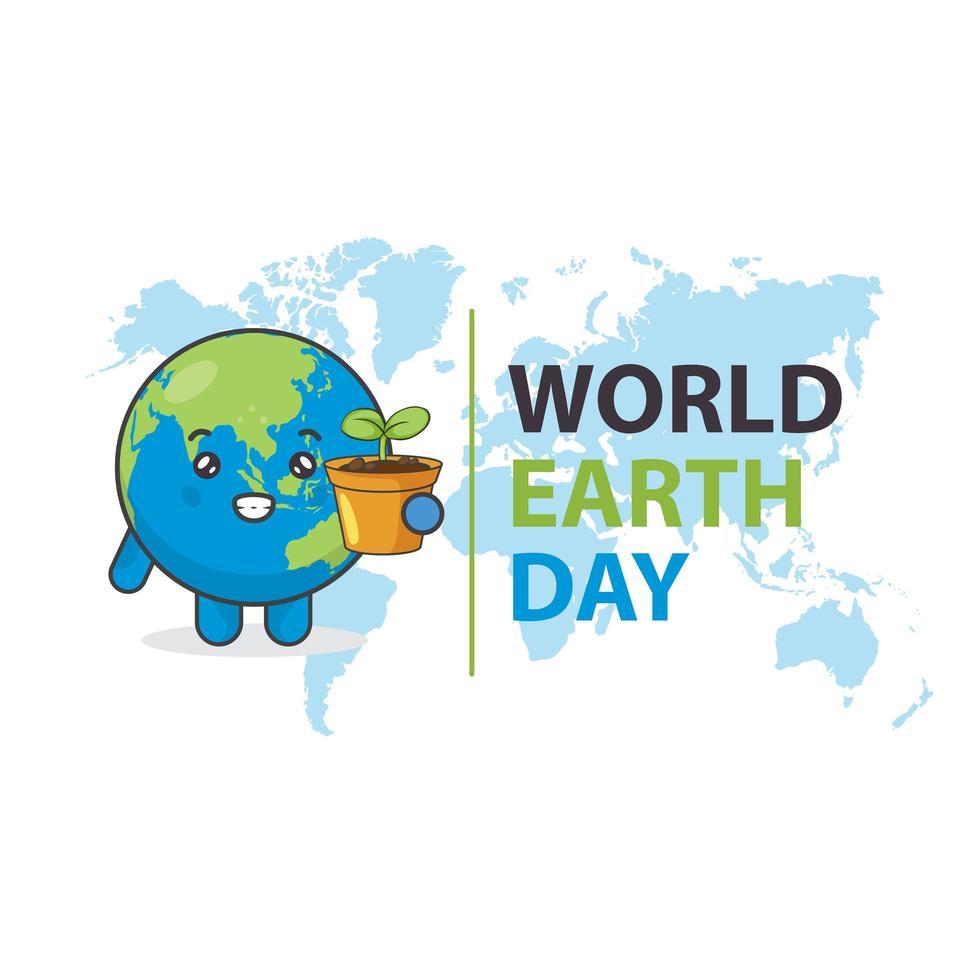 progettazione di giornata mondiale della terra con impianto di detenzione di terra vettore