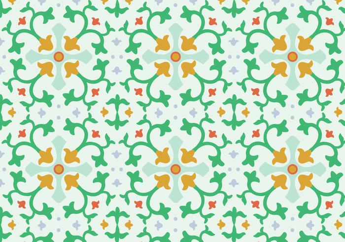 Motivo floreale mosaico vettoriale