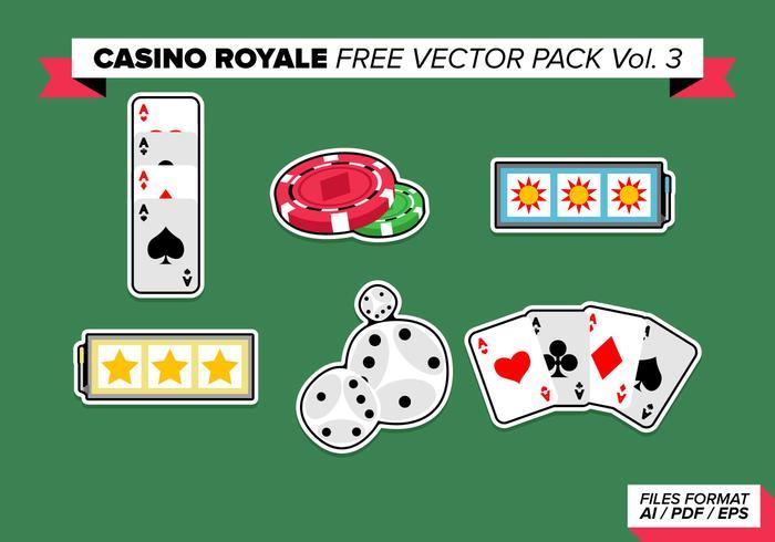 Pacchetto gratuito di Casino Royale Vector Vol. 3